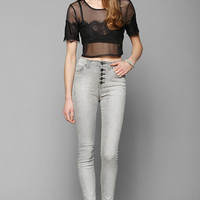 BDG Twig High-Rise Button-Fly Jean - Grey Eclipse - Urban Outfitters
