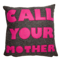 Call Your Mother Pillow - Pillows - Bedding