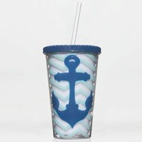 Chevron Anchor Tumbler Mint One Size For Women 22977252301