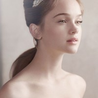 Crystal Structured Headband - David's Bridal
