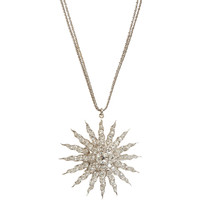 Antique Diamond Starburst Pendant Necklace
