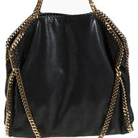 Stella McCartney 'Falabella' Metallic Faux Leather Foldover Tote | Nordstrom