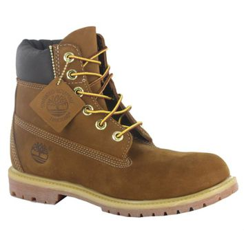 Timberland 6inch Premium Rust Leather Womens Boots