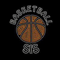 Basketball Sis Rhinestone Transfer Iron On DIY Bling 34148