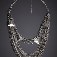 Multi-Chain Layered Necklace