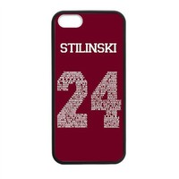 "Shinhwa Create Teen Wolf Stiles ""Quote"" Jersey Custom Laser Rubber Case for iPhone 5 5S"