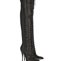 Brian Atwood Belle python over-the-knee boots – 63% at THE OUTNET.COM