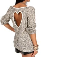 Pre-Order IvoryBlack Heart Back Sweater