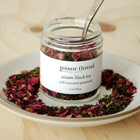 Organic Assam Black Tea with Spearmint and Red Rose Petals - 3 Jars