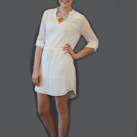 Dream Come True Tunic Dress - Off White