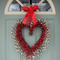 Valentine Wreath - Valentine Door Wreath - Wreath for Valentines Day