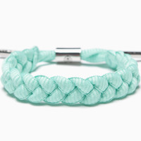 Fresh Mint Shoelace Bracelet (Mint)