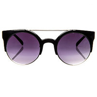 The Money Maker Sunglasses in Black and Silver