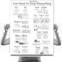 10 Words You Need To Stop Misspelling Poster - The Oatmeal