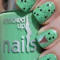 Knocked Up Nails: Mint Chip At Midnight