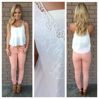 Ivory Vintage Lace Crop Top