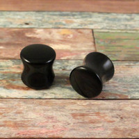 Black Onyx Stone Saddle Plugs