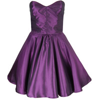 ★25% OFF! ★ Purple Taffeta Party Dress UK 8 | Style Icon`s Closet