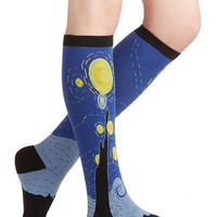 True Walk of Art Socks | Mod Retro Vintage Socks | ModCloth.com