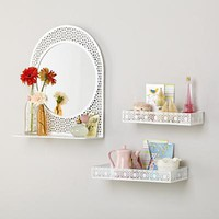 Chantilly Wall Shelves (White, Set of 2) in Shelves & Hooks | The Land of Nod