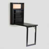 Black Alden Foldout Convertible Desk - World Market