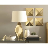 Nate Berkus Wall Décor Gold - 8x8""