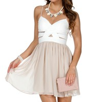 Elly- IvoryNude Short Prom Dress