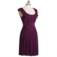 paradise in plum pleated dress - $39.99 : ShopRuche.com, Vintage Inspired Clothing, Affordable Clothes, Eco friendly Fashion