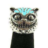 Cheshire Cat Cocktail Ring Size 4.5 Alice in Wonderland RG09 Statement Fashion Jewelry