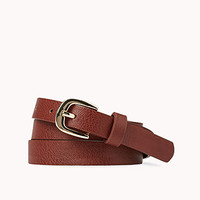 Iconic Faux Leather Belt
