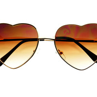 Retro Fashion Gold Metal Heart Love Womens Sunglasses W1531 – FREYRS - Sunglasses at Affordable Prices