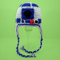 R2D2 Earflap Hat from Star Wars please send size by CutieHats