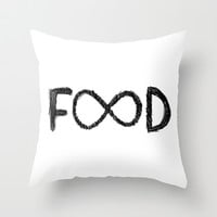 FOOD Throw Pillow by Sara Eshak