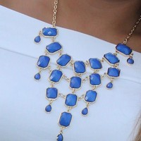 Bangles Boutique — Casting Blue Stone and Gold Necklace