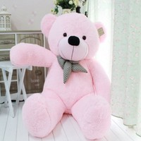 Giant Bear BIG Cute Plush Bear Huge Soft Pink Color