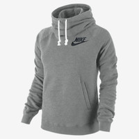 Nike Rally Women's Pullover Hoodie - Dark Grey Heather