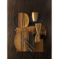 Walmart.com: Hometrends Bazaar Brown 16-Piece Dinnerware Set: Kitchen & Dining