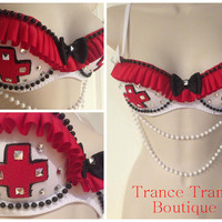 Naughty Nurse Costume Bra