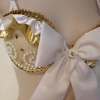 Golden Goddess Rave Bra