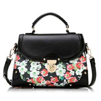 Colorful Flower Print Crossbody Shouder Bag Satchel Handbag