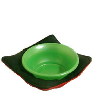 Green and Orange Microwave Soup Bowl Pot Holder Reversible Pot Holder