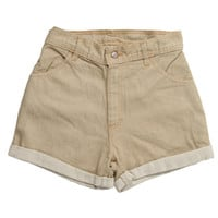 Rokit Recycled Brown Denim Shorts W30