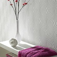 Curvy Paintable Wallpaper