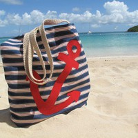 Anchor Beach Tote by HoneyPieDesign on Etsy