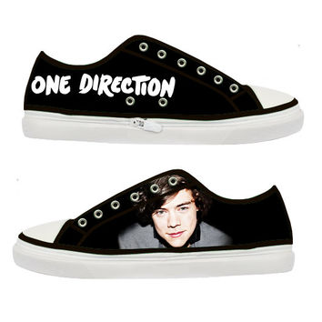one direction harry styles canvas shoes from tattabia on