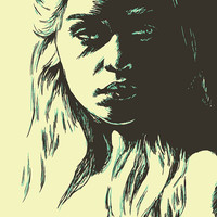 Game of Thrones: Daenerys Targaryen Illustration, Game of Thrones Wall Art, Modern Home Decor, Wall Art