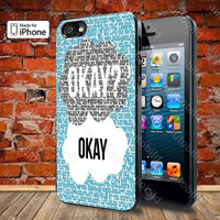 Okay Okay John Green Case For iPhone 5, 5S, 5C, 4, 4S and Samsung Galaxy S3, S4