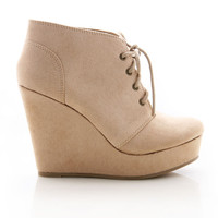 Tie Up Wedge Bootie | Trendy Shoes at Pink Ice