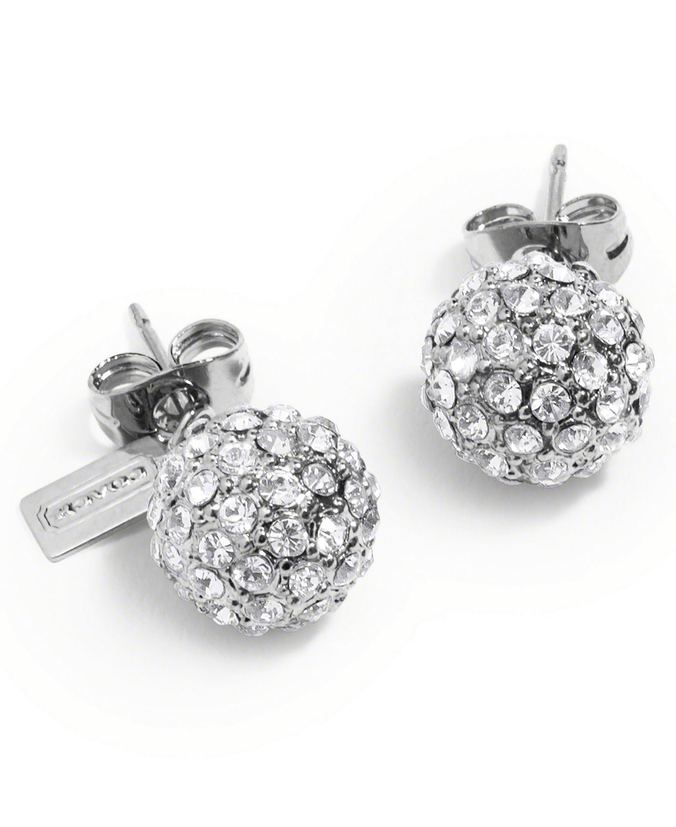 coach stud earrings coach pave stud earrings from macys 5497